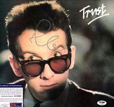 """ELVIS COSTELLO Signed LP VINYL """"TRUST"""" PSA/DNA # AC34692"""