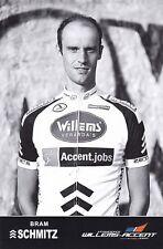 CYCLISME carte cycliste BRAM SCHMITZ équipe WILLEMS Veranda's 2011