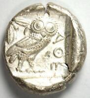 Athens Greece Athena Owl Tetradrachm Silver Coin (454-404 BC) - Choice VF / XF