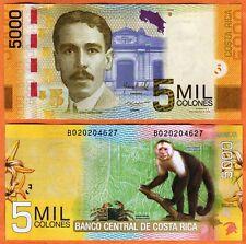 COSTA RICA 2012  UNC 5000 Colones Banknote Paper Money Bill P-276