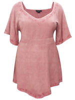 Eaonplus blouse top plus size 18/20 22/24 26/28 30/32 vintage rose embroidered