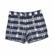 Ann Taylor LOFT Womens Striped Cotton Shorts Size 8 Casual Flat Front Zip Close