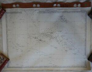 # (1) GRANDE CARTE MARINE ANCIENNE * OCEANIE TAHITI TUAMOTOU n°6036