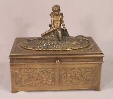 Rare Mechanical Bergman Vienna Bronze Erotica Cherub Box