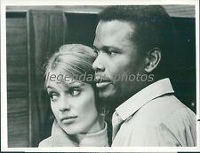 1969 The Lost Man Original Press Photo Sidney Poitier Joanna Shimkus