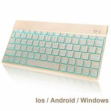 Universal Bluetooth Keyboard With 7 Colors Backlit Changes For Apple Window etc.