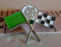 Fraternal Order of Eagles Checkered Flag Racing Pin FOE Vintage early 1980's