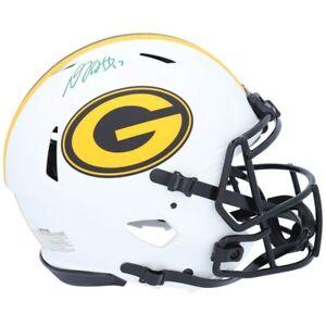 DAVANTE ADAMS Autographed Packers Lunar Eclipse Authentic Speed Helmet FANATICS