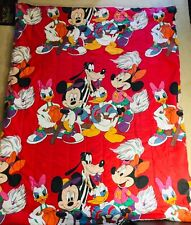 """Mickey Mouse Comforter Twin Size Bed 84"""" X 66"""" Double-Sided Minnie Disney Sports"""