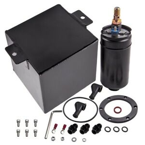 Universal 2L Aluminum High Flow Fuel Surge Tank 6AN With 044 Highflow Fuel Pump