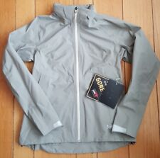 Arcteryx A2B Commuter Hardshell Jacket Womens Large Gore Tex Chalk Stone