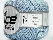 Bali Viscose Powder Blue - Ice 39709 - Skinny DK Ribbon Yarn - 50 G 92 Y x 2mm W