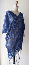 Junya Watanabe Comme des Garcons Blue Lace Tulle Asymmetrical Dress Sz S