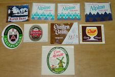 9 beer labels from Potosi, Wisconsin, Potosi Brewing other brands