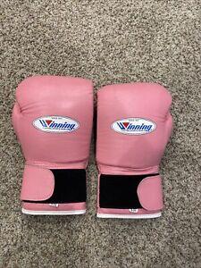 Pink winning boxing gloves 8oz