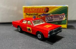 Matchbox Lesney No.59 or 73 Mercury Fire Chief WITH BOX Nice Condition