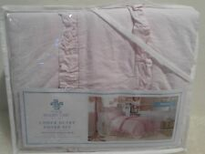 New SIMPLY SHABBY CHIC Twin 2 Pc Duvet Cover Set Pink 100% Cotton