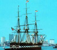 USS Constitution Old Ironsides Boston Naval Shipyard MA Vintage Postcard