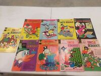 Lot of 9 Walt Disney Uncle Scrooge 1970's comic books  Ships in 24 hours 💥💥