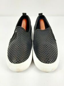 Sperry Top-Sider STS84925 Black Crest Perforated Leather Sneaker Size 41 EUC