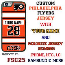 Philadelphia Flyers Hockey Jersey Phone Case Cover Customized for iPhone etc.
