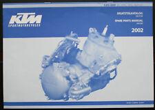 Manuel pièces détachées moteur  KTM 125/200 SX,MXC,EXC,SG 2002   3.208.64 5/2001