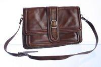 Tasche braun Leder Damentasche mit Riemen verstellbar H.22x31x10cm