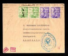15922-ESPAÑA-SPAIN.MILITARY NAZI CENSOR COVER BARCELONA to GERMANY 1942 WWII