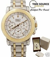 Zenith El Primero Rainbow Chrono 18K Gold & SS Two Tone 40mm 0460- 400 Watch