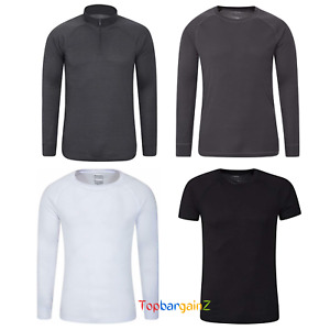 Mens Thermal Baselayer Warm Tshirt Breathable Lightweight Top Mountain Warehouse