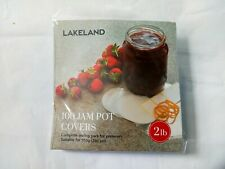 Lakeland 100 Jam Pot Waxed Circles Covers Bands labels Complete 2lb Sealing Pack