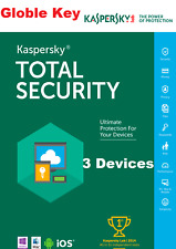 Kaspersky Total Security and antivirus 2020 3 Devices  1Year Global Activation