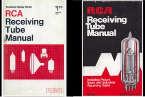 RCA RECEIVING TUBE MANUAL RC-30 1975 & RC-26 1968* PDF* + BONUS FILES ON  CD