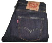 Mens LEVI'S 504 Regular Straight Fit Dark Blue (0212) Denim Jeans W32 L30