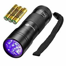 TaoTronics Black Light, 12 Leds 395nm Uv Blacklight Flashlights Detector for Pet
