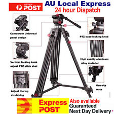 1880mm Weifeng Video Tripod WF-718 w/Fluid Pan Head Dual-Lock Quick Release 717
