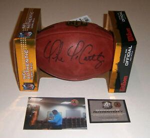 COWBOYS Mike McCarthy signed NFL Duke game football COA HOLO AUTO Autographed