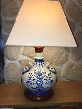 Lampe Vase Porcelaine Décors Chine Ou Japon Blanc Bleu