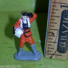 STAR WARS Micro Machines REBEL X-WING Rogue Yavin PILOT Figure #2 Galoob 1996