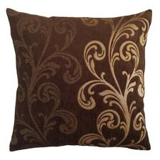 Chenille Solid/Dot Leaves 18x18 Brown Decorative/Throw Pillow Case/Cushion Cover