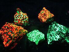 Super bright 2 Lb Fluorescent red green mineral rock Franklin bargain box