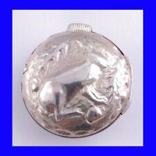 Argento NAPOLEONICO VERGE FUSEE Easter Bunny Repousse Orologio da taschino 1810 CASSA ESTERNA
