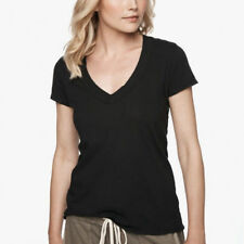 James Perse Casual T Black Cotton Vee-Neck Size JP1-4 NWT $65 Best Classic Basic