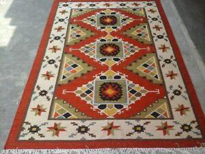 Large Antique Rug Handmade Carpet Afghan Kelim Rug Large Kilim Rug 8x10 feet Rug
