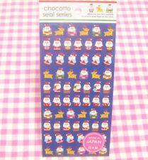 GAIA / Winter X'mas Reindeer Santa Claus Sticker Sheet / Japan Christmas Blue