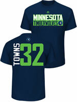 Karl-Anthony Towns Minnesota Timberwolves Mens Navy Vertical Short Sleeve T Shir