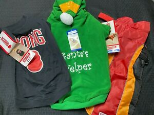 Casual Canine Kong Lot of 3 Dog Christmas Winter Hoodie elf Coat LG 20 IN NWT