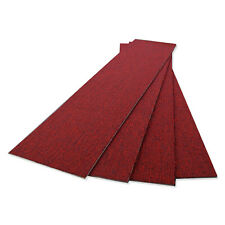 COLOUR PLANK - RED - CARPET TILE PLANKS-HI TRAFFIC SDN PILE -SAVE 60% ON RETAIL
