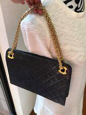 Chanel Vintage Lambskin Clutch 2 way handbag