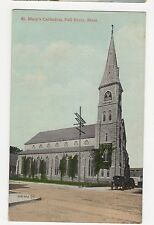 USA, St. Mary's Cathedral, Fall River, Mass.  Postcard, A807